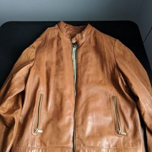 AS IS - Wilson's Leather Tan Leather Jacket